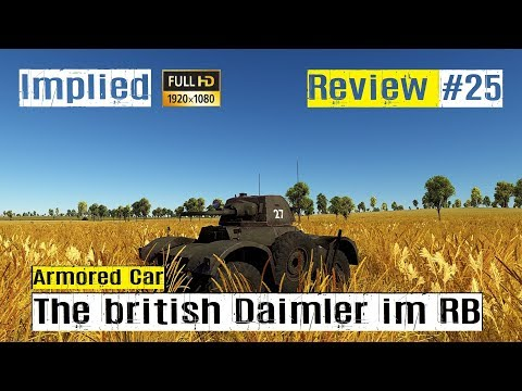War Thunder Tank Review #25 der britische Daimler AC MK II im RB GAMEPLAY HD