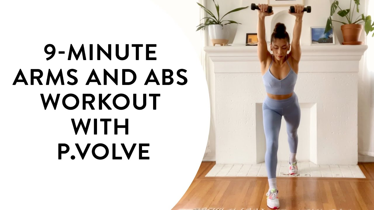 Download 9-minute arms and abs workout with P.volve | Get The Gloss