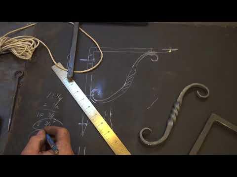 Forged iron shelf bracket - part 1 - basic balcksmithing