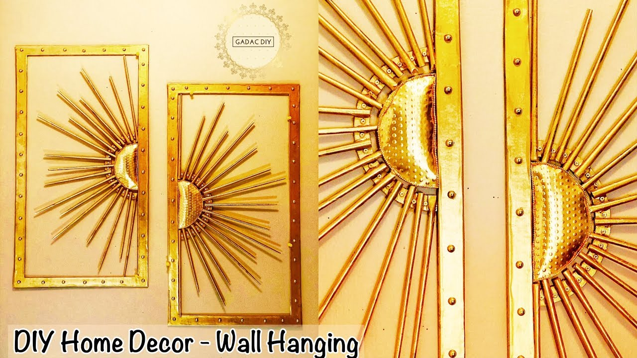 Wall hanging craft ideas very easy | diy unique wall hanging | diy ...