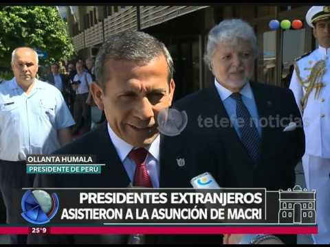 Presidentes extranjeros en la asunción de Macri - Telefe Noticias