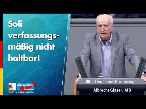 Glaser: Soli verfassungsmäßig nicht haltbar! - AfD-Fraktion im Bundestag