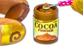 Miniature doll cocoa or chocolate powder plastic jar tutorial - Dollhouse DIY