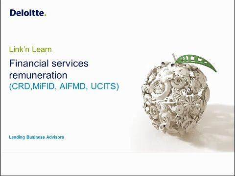 Link'n Learn - Remuneration (CRD, MiFID, AIFMD, UCITS)