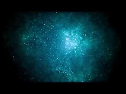 Light Illuminating Blue Glitter Particles | 4K Relaxing Screensaver