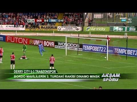 Derry City 0-3 Trabzonspor 25.07.2013 maç özeti HDTV