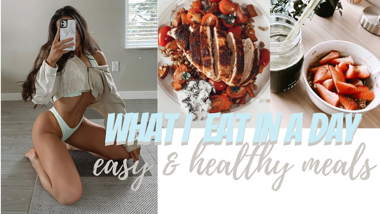 WHAT I EAT IN A DAY    simple easy healthy meals ft HelloFresh