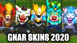 All Gnar Skins Spotlight 2020 (League of Legends)