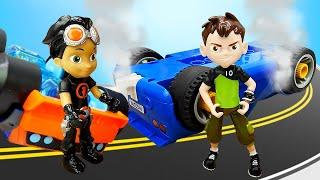 Видео про игрушки из мультфильма Бен Тен! Машинки и аварии! Бен 10 попал в аварию! Время быть героем
