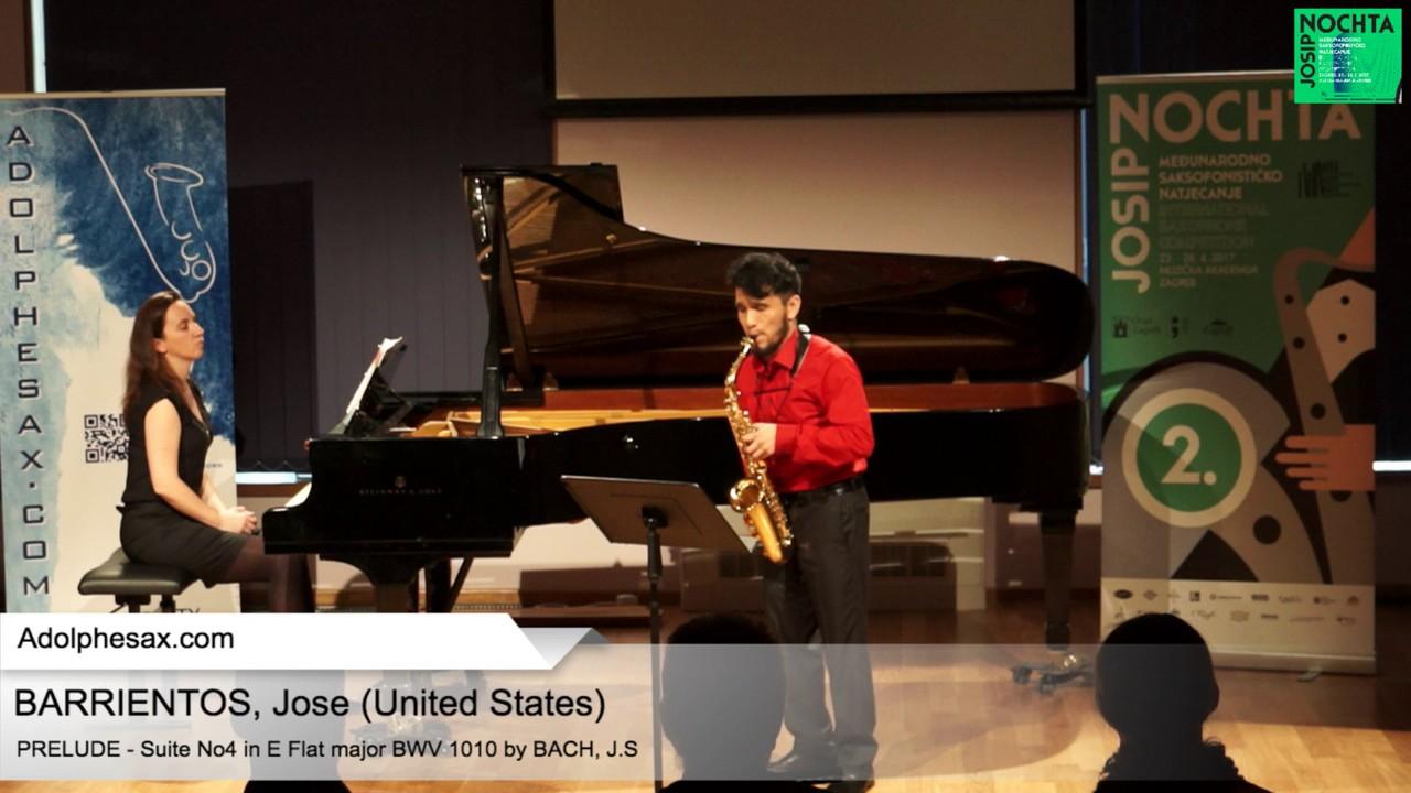 Johann Sebastian Bach – Suite No 4 in E  at major BWV 1010 – Pre?lude  – BARRIENTOS, Jose (USA)