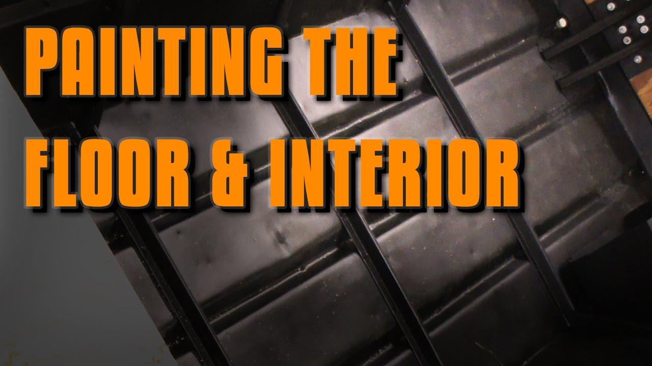 Jon Boat Mods: Painting the Floor & Interior - YouTube