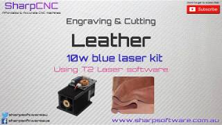 10w Laser engraving & cutting leather