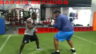 NFL Off-Season Training DJ Fluker/James Carpenter