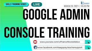 Google Admin Console Training