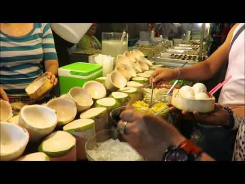 COCONUT ICE CREAM RECIPE PHUKET THAI STYLE street food night market thailand asia travel trip