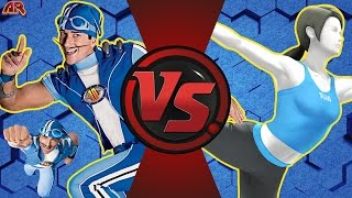 SPORTACUS vs WII FIT TRAINER! (Lazy Town vs Wii Fit) Cartoon Fight Club Episode 170