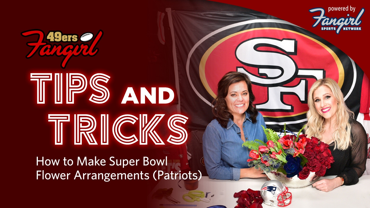 How To Make A Patriots Inspired Super Bowl Flower Arrangement Using Team Colors 49ers Fan