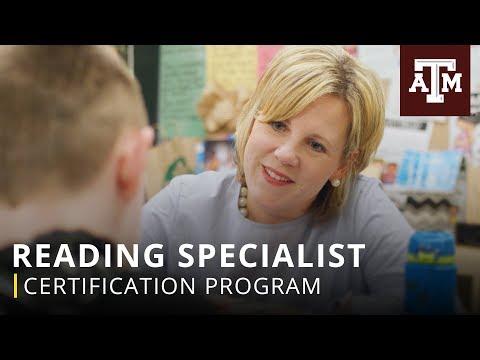 Certification Program: Reading Specialist