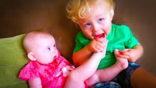 Cutest Baby Siblings Playing Together Fails - Funny Baby Video| Baby Fun Mafia