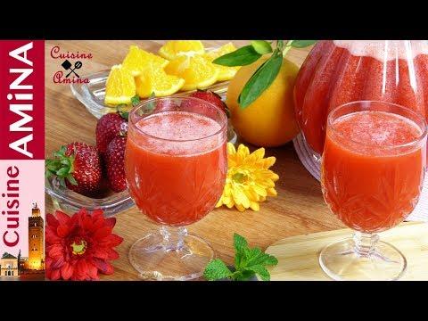 عصير عجيب بالفريز (الفراولة) بدون حليب