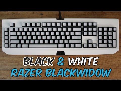 Mod Showcase : Black & White Razer Blackwidow Mechanical Keyboard
