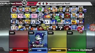 SSF2 BETA] SUPER SMASH CON (RAYMAN VS KRYSTAL VS SONIC VS