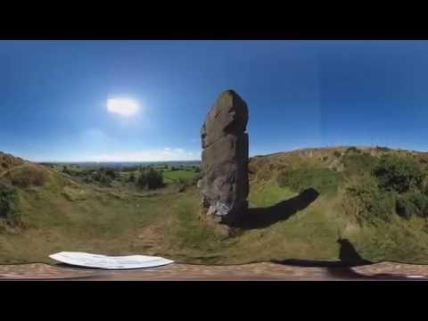 Alport Stone interactive 360 video tour, Explore this natural stone monolith in Derbyshire.