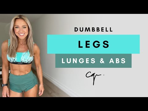20 Min LEG WORKOUT WITH DUMBBELLS at Home | Abs and Lunges