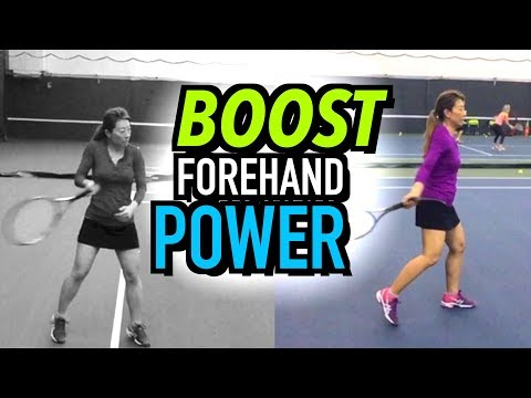 FOREHAND Tennis Lesson: INCREASE YOUR POWER - Technique + Drills