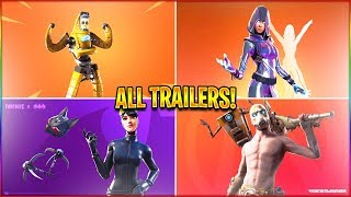 *ALL* Season 10 Fortnite Trailers! (P-1000, Glow Skin, Zone Wars) in HD!