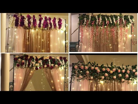 DIY- quick and easy backdrop decor DIY- 5 minutes backdrop decor DIY- elegant backdrop DIY-
