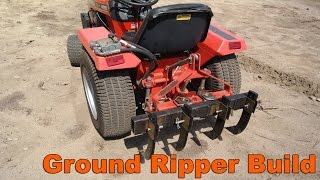 Garden Tractor Ground Ripper Cultivator Attachment Build
