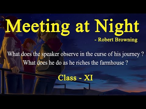 Meeting at Night  Question and Answer  Question - 10  Class 10   English  My পাঠশালা