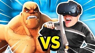 THE NINJA CHALLENGE IN GORN VR (GORN Gladiator Simulator Funny Gameplay HTC Vive)