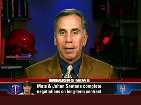 Johan Santana signs with Mets