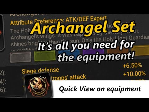 [CoK] Equipment Review - Archangel Set Is So Strong!