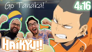VOLLEYBALL PLAYERS REACT TO HAIKYUU!! (To the Top) 4x16