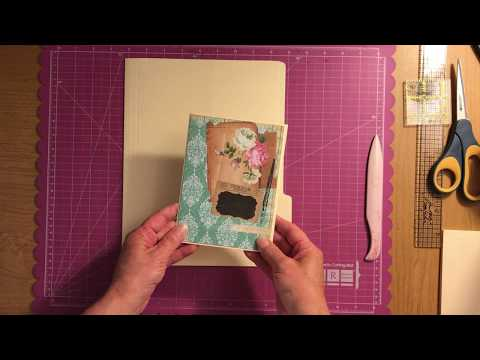 File Folder Mini Album Tutorial Quick & Easy Project