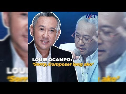 Louie Ocampo: 'Sorry, composer lang ako' | NXT