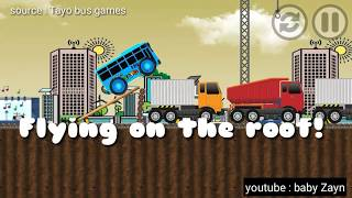 TAYO : Flying on the roof! Wow..!! Games play for toddler