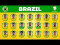 BRAZIL SQUAD for COPA AMERICA 2021 - OFFICIAL 24 MAN PLAYERS   JunGSa Football