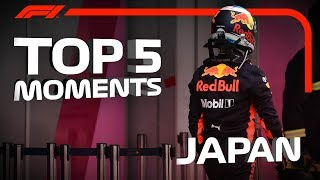 Top 5 Moments   2018 Japanese Grand Prix