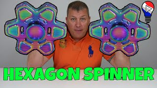 Fidget Hand Spinner Rainbow Hexagonal Star Finger EDC Focus Test Review Francais ThinkUnBoxing