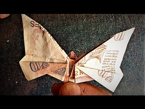 How To Make Butterfly With 10 Rupees Note Origami Or Paper