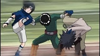 Lee Stops Fight between Sasuke and a Chunin and Shows his love for Sakura Chunin