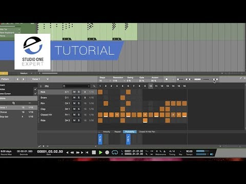Studio One 4 - Using Pattern Mode On Drums And Synths