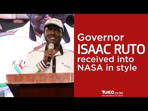 Governor Isaac Ruto received into NASA in style