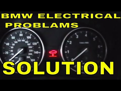 BMW e90 e91 e92 e93 car start but no electrical power in the car nothing working