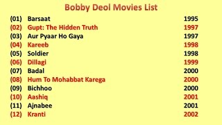 Bobby Deol Movies List