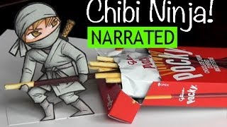 "How to Draw a Chibi Ninja: The ""Pocky Thief"""